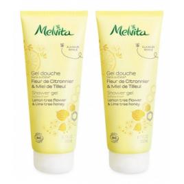Melvita Duo Gel douche fleur de citronnier et miel de tilleul 2x200ml