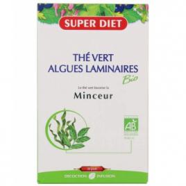 Super Diet Thé Vert Algues Laminaires Bio Minceur 20 ampoules de 15ml soit 300ml