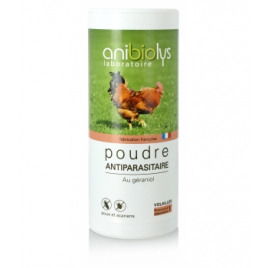 Anibiolys Poudre antiparasitaire volailles 300g Anibiolys Antiparasitaire Onaturel.fr