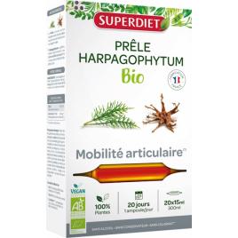 Super Diet Prêle Harpagophytum Bio 20 ampoules de 15ml Super Diet Categorie temp Onaturel.fr
