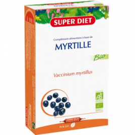 Super Diet Jus de Myrtille 20 ampoules de 15ml soit 300ml Super Diet Categorie temp Onaturel.fr