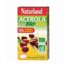 Naturland Acérola 1000 Bio 30 comprimés à croquer Naturland Accueil Onaturel.fr