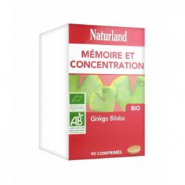 Naturland Ginkgo Biloba Bio 90 comprimés vegetaux Naturland Accueil Onaturel.fr