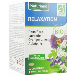 Naturland Passiflore Lavande Oranger Aubépine Bio 90 comprimés Naturland Accueil Onaturel.fr