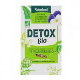 Naturland Détoxidraine Detox Bio 20 ampoules de 10ml Naturland Accueil Onaturel.fr