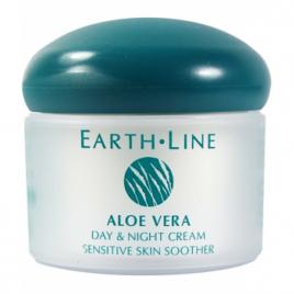 Earth Line Crème de jour et nuit Aloe Vera peau sensible Vitamine E 50ml Earth Line Peaux sensibles Onaturel.fr