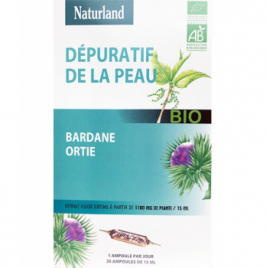Naturland Bardane Ortie Bio 20 AMPOULES de 15ml Naturland Accueil Onaturel.fr