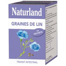 Naturland  Graines de Lin  14 Sachets de 6,5 g Naturland Accueil Onaturel.fr