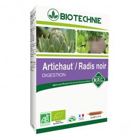 Biotechnie Artichaut Radis Noir Bio 20 ampoules 10ml Biotechnie Digestion Onaturel.fr