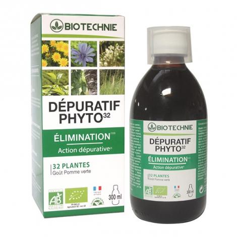 Biotechnie Dépuratif Phyto 32 bio Flacon 300ml Biotechnie