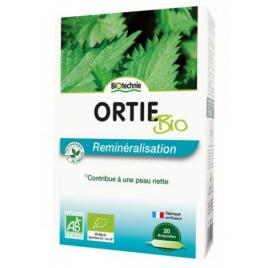 Biotechnie Ortie feuilles silicium bio 20 ampoules de 10ml Biotechnie Muscles et Articulations Onaturel.fr
