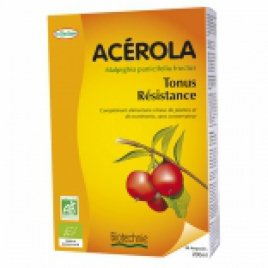 Biotechnie Acérola Tonus et Résistance 20 ampoules Biotechnie Accueil Onaturel.fr