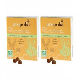 Propolia Gommes de Propolis Romarin bio Lot de 2 boîtes de 45g Propolia