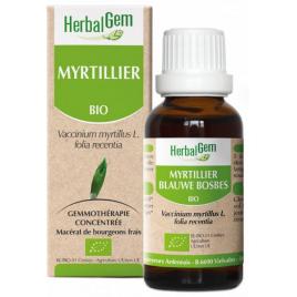 Herbalgem Gemmobase Myrtillier bio Flacon compte gouttes 50ml Herbalgem Gemmobase Accueil Onaturel.fr