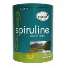 Spiruline Ecocert Flamant Vert 120gr net Microgranules Flamant Vert Forme et Vitalité Onaturel.fr