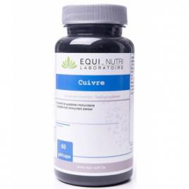Equi - Nutri Cuivre 60 gélules végétales de 5mg Equi - Nutri Immunité Onaturel.fr