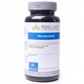 Equi - Nutri Manganèse 60 gélules végétales de 10mg Equi - Nutri Forme et Vitalité Onaturel.fr