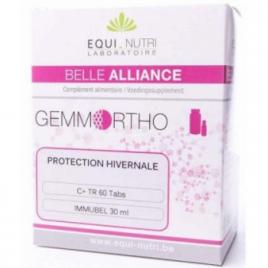 Equi - Nutri Duo Prêt pour l'Hiver 60 tablettes + Flacon 30ml Equi - Nutri Immunité Onaturel.fr