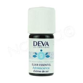 Deva  Elixir Essentiel  Adolescence N° 9  5 Ml Deva Laboratoire Elixirs floraux - Dr Bach Onaturel.fr