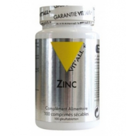 Vit'all + Zinc 100 comprimés sécables Vit'all + Accueil Onaturel.fr