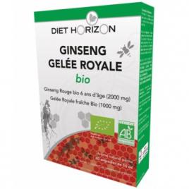 Diet Horizon Ginseng Gelée Royale bio 20 ampoules de 10ml