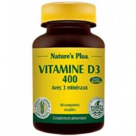Nature's Plus Vitamine D3 400 90 comprimés Nature's Plus Accueil Onaturel.fr