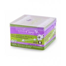 Silvercare Bâtonnets sécurité ouatés embouts 100% coton bio bébé
