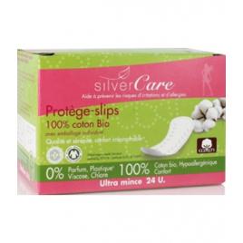 Silvercare Protèges slips 100% coton bio, Anatomiques Emballage individuel, boîte de 24 Silvercare Accueil Onaturel.fr