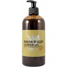 Tade Savon d'Alep Liquide 12 % Laurier Et Olive avec pompe 500 ml Tade Accueil Onaturel.fr