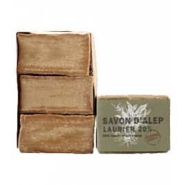 Tade Savon d'Alep Laurier 20% Aleppo Soap Lot 3 savons Tade Accueil Onaturel.fr