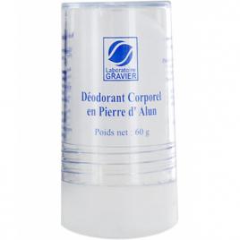 Gravier Déodorant corporel Pierre D'Alun mixte naturelle 60g Gravier Déodorants Bio Onaturel.fr